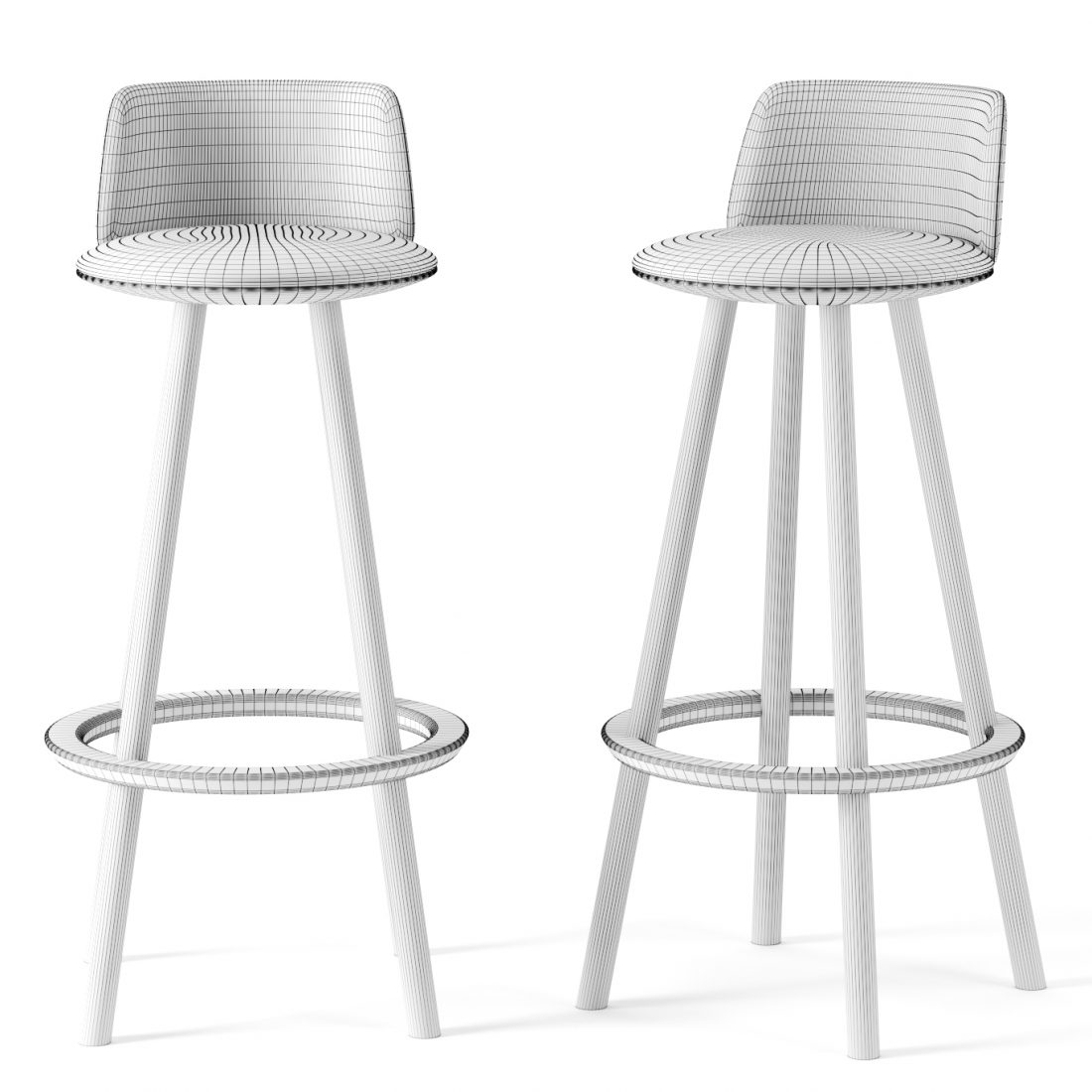Ovo Bar Chair By Benchmark Furniture 3d Model For Corona
