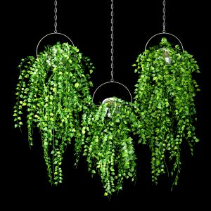 Artificial Sweeping Hanging Plant Set