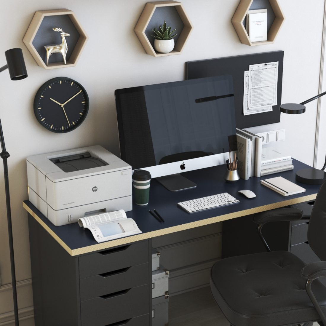 Ikea Office Workplace 42 3d Model For Vray Corona