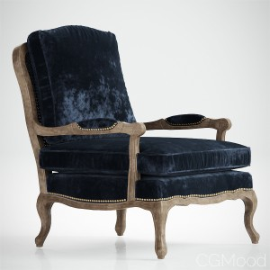 Boutique Accent Chair in Cut Blue Pile
