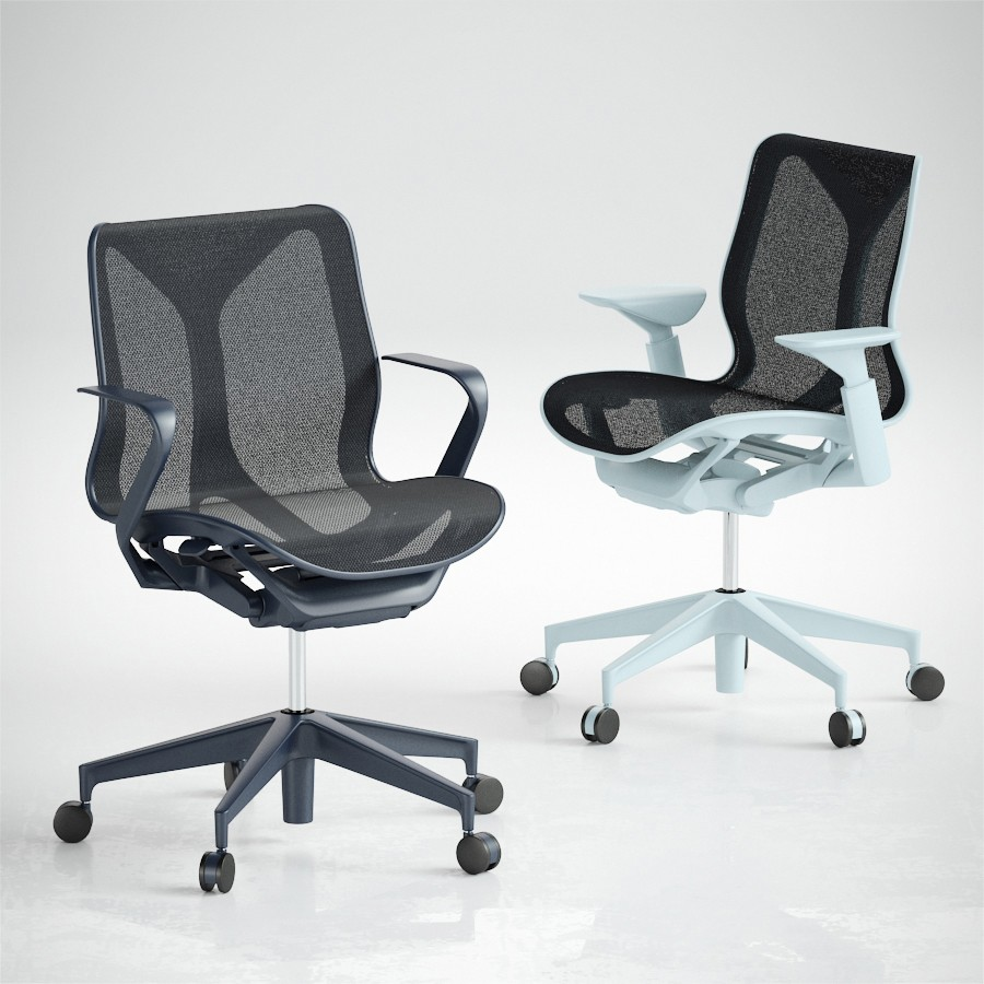 Cosm Chairs Low Back By Herman Miller 3d Model For