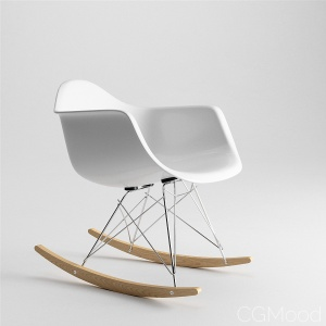 Eames Molded Plastic Armchair Rocker Base by Herman Miller