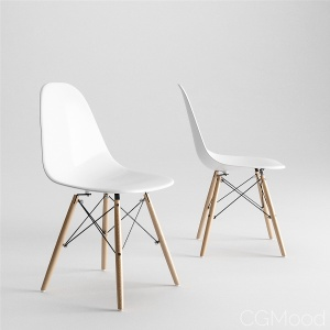Eames Molded Plastic Side Chair Dowel Base by Herman Miller