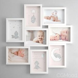 Veksbu Frame By IKEA (OL For a baby girl set)