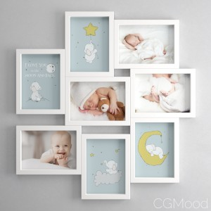 Veksbu Frame By IKEA (OL For a baby boy set)