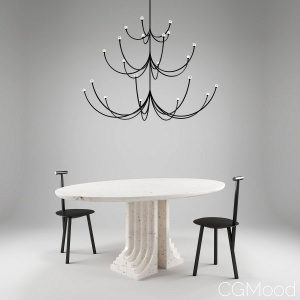 Interior Set Feat. Arca Lamp, Spade Chair, Samo Table