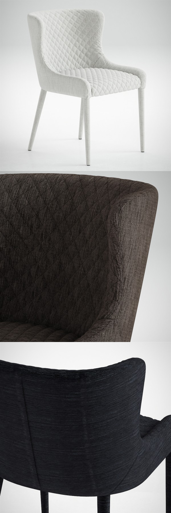 Saxon Quilted Dining Chair Model