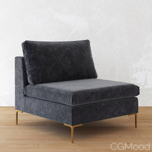 Slub Velvet Edlyn Chair by Anthropologie