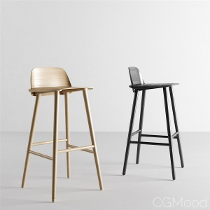 Nerd Bar Stool by Muuto