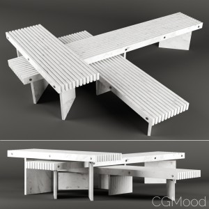 Rail table by Baxter