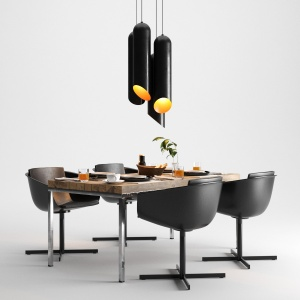 Dining Set feat. Poliform and Tom Dixon