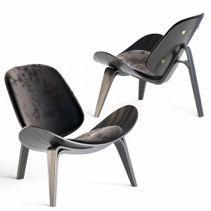Carl Hansen Ch07 Shell Chair Lounge Chair Black