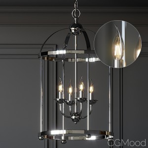 Ballards Designs Clarissa 4 light Orb Chandelier 3D Model