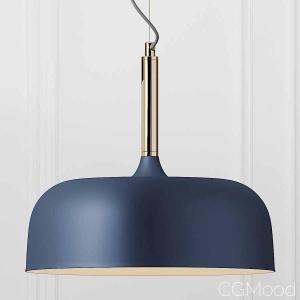 Cox & Cox Blue & Brass Pendant Light