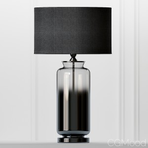 Cox & Cox Grey Smoke Glass Table Lamp