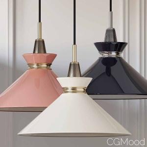Mitzi Kiki Aged Brass Pendant Light Pink-blue-crea