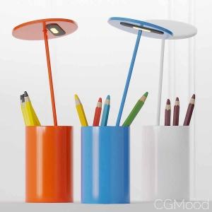 Formagenda E.t. Aluminium Table Lamp - Pen Holder