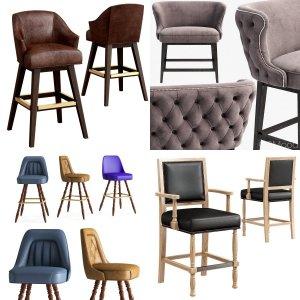 Bar stools set 01