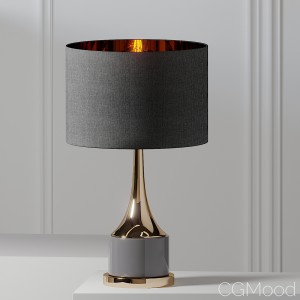 Artistic Home & Lighting 18.5in Gold Cone Neck Lam