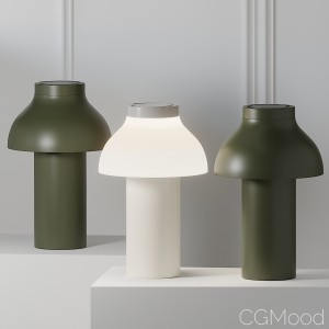 Hay Pc Portable Lamp - Olive Green And White