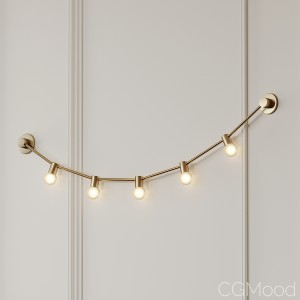 Garland Of July 14th Xs Gold Wall Sconce