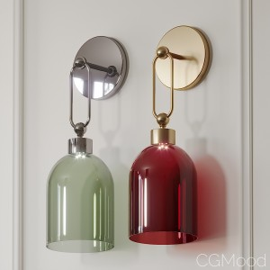 Valentina Retro Wall Sconce Red And Green