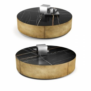 Meridiani Belt oval and round coffee tables