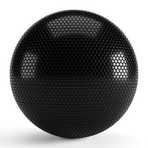 Round Black Tiles