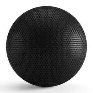 Round Black Matte Tiles