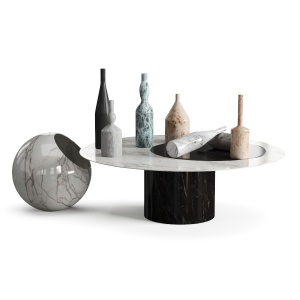 Salvatori Table,lamp And  Decorative Bottles