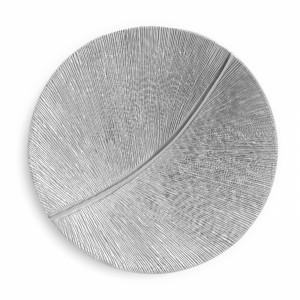 Simonallen Sculptor Leaf Curcle Silver