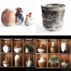 rustic pots set v1
