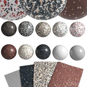10-in-1 Terrazzo Linoleum Material Pack 2