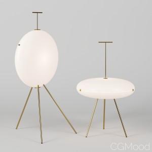 Gio Ponti Luna Lamps By Tato