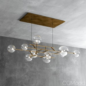 Bolle Orizzontale Pendant Light By  Gallotti & Rad