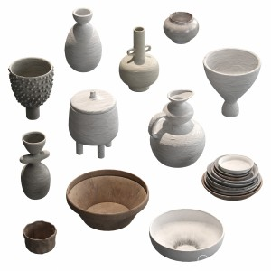 Pottery Set V1. 12 models