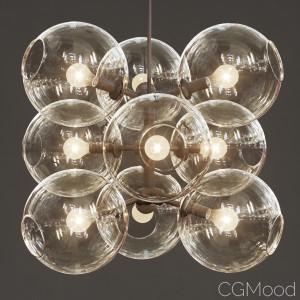 Lindsey Adelman - 9 Globe Bubbles Chandelier
