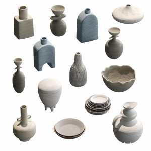 Pottery Set V2. 14 Models