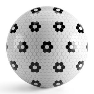 Black White Hexagon Tiles
