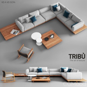 Tribu Vis A Vis Sofa And Rocking Chair
