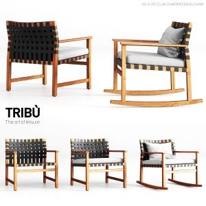 Tribu Vis A Vis Club Chair And Rocking Chair