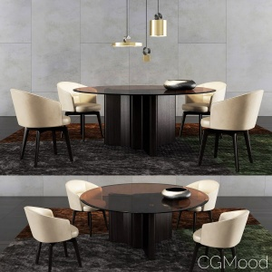 Minotti Lou Dining Table And Amelie Dining Chair