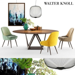 Walter Knoll Tobu Table And 375 Chair