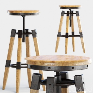 By-lyj Bar Stool Industrial Vintage Metal Cast Chi