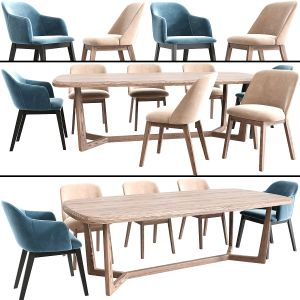 Coco Arm Dining Chair Set