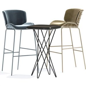 Contemporary Bar Chair Upholstered