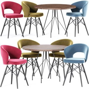 Cross Dining Table Chair Collection