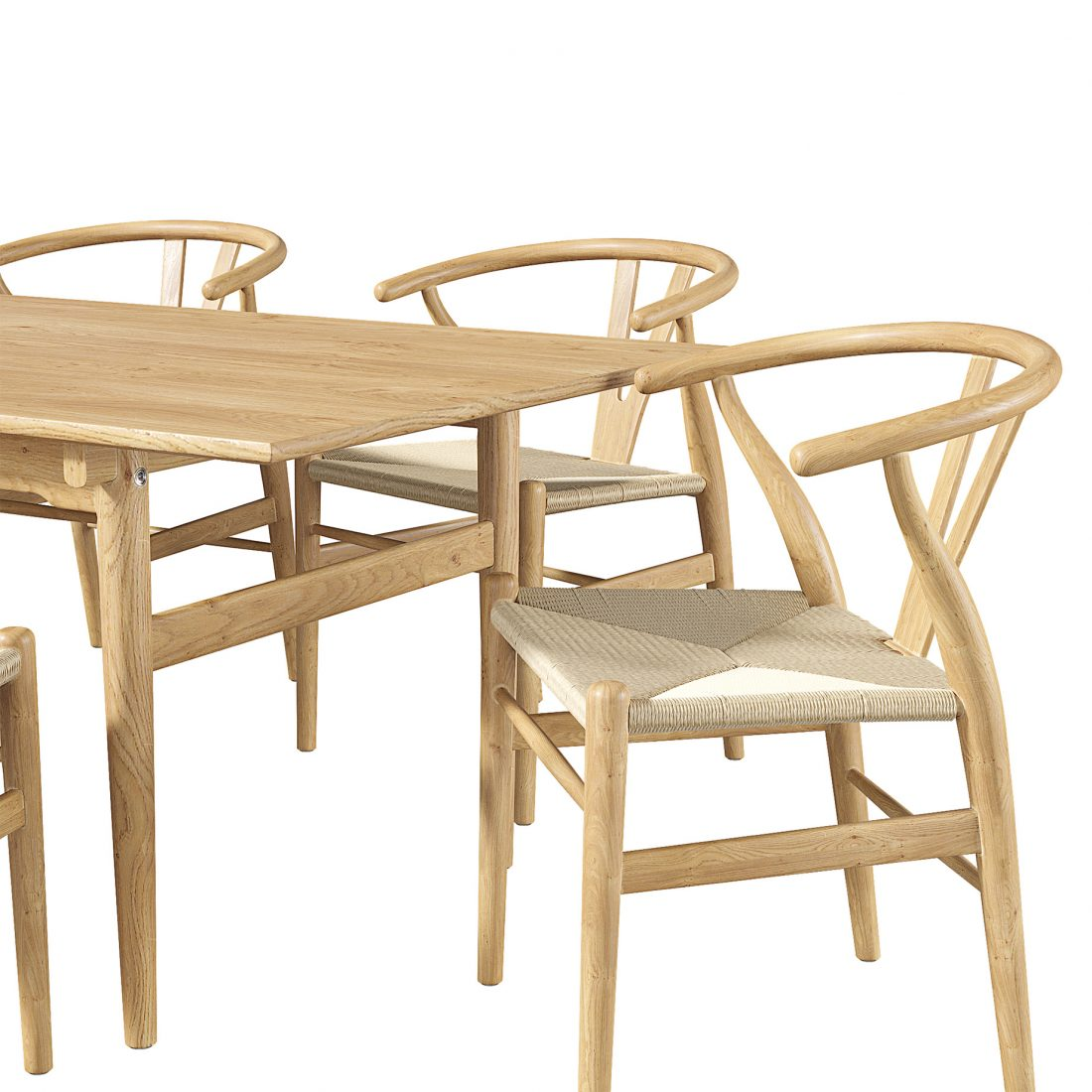 Carl Hansen Chair Ch24 Dining Table 3d Model For Vray Corona