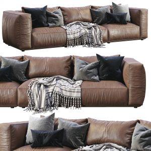 Marechiaro Leather Sofa  By Arflex