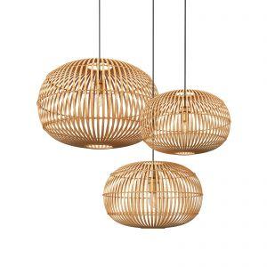 Globe Wooden Pendant Lights